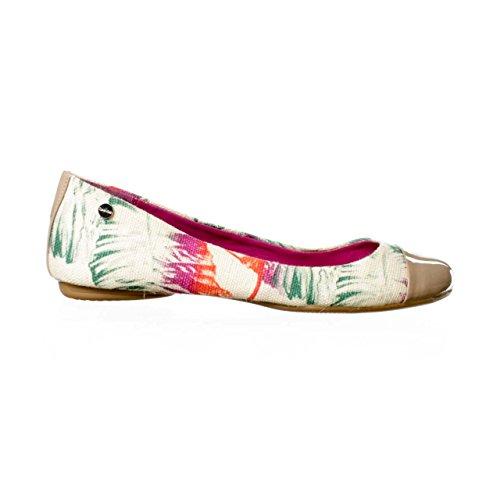 Calvin Klein Pamm Womens Size 11 Beige Textile Flats Shoes