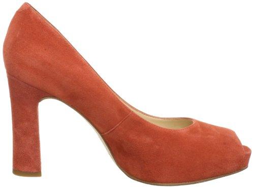 Unisa SEYER_KS - Peep Toes de cuero para mujer Naranja (Orange (PAPAYA))