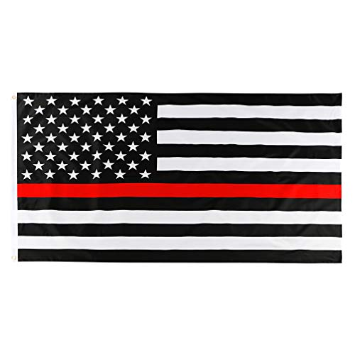 duduta Lightweight Thin Red Line USA Flag 3x5 ft, Double-Side Print Honoring Firefighter Flag Outdoor Indoor, Brass Grommets Fade Resistant