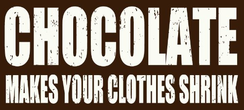 Sixtrees Chocolate Makes Your Clothes Shrink Box Sign