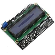 Keypad Shield Lcd Keypad Shield - Keypad Shield Blue Backlight For Arduino Robot LCD 1602 Board ( Lcd 1602 Keypad Shield)
