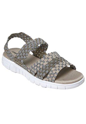 Comfortview Kvinnor Brett Lilja Sandal Metallisk Multi