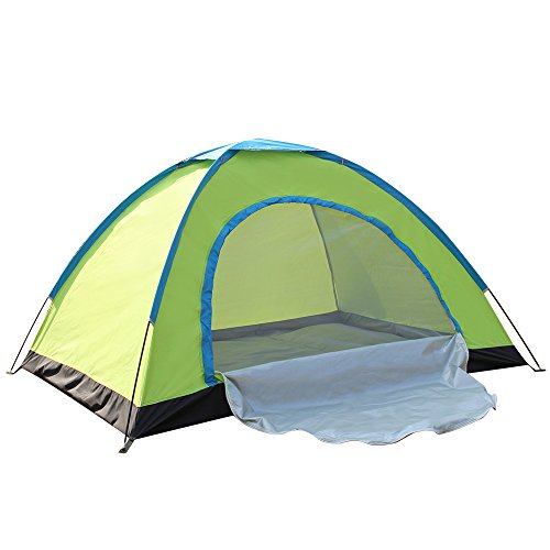 WINMI 2 Person Tent Folding Waterproof Tent Camping Instant Tent for Hiking,Travel,Garden and Outdoor (Green) Review