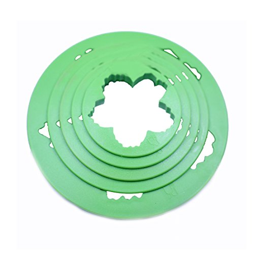 SK 5-Piece Peony Fondant Cutters Set Sugarcraft Modeling Tools Kit for Cake Decoration Green