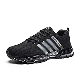 Kundork Mens Running Shoes Air Cushion Trail Fashion Sneakers Lightweight Tennis Sport Casual Walking Athletic for Men Outdoor