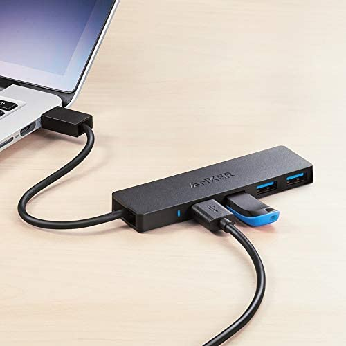 Anker 4-Port USB 3.0 Ultra Slim Data Hub for Macbook, Mac Pro/mini, iMac, Surface Pro, XPS, Notebook PC, USB Flash Drives, Mobile HDD, and More