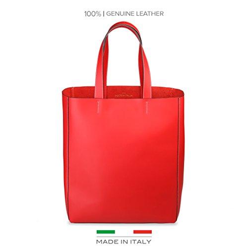 Intense Rouge Sac Pour Fosca Femme L'épaule Porter In Made À Italia qwHzpHv