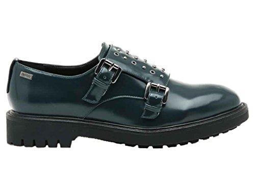 Zapatillas Para Mustang Piel Mujer Oscuro De Shoes Verde 4w57qO5H