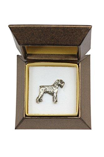 (Schnauzer (Body), Dog pin, Badge, Brooch, in Box, Casket, Limited Edition, ArtDog)
