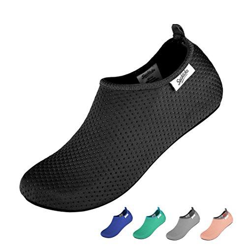 Water Mens SEAKICKS Shoes Womens Shoes Aqua Black Water and Socks Barefoot RAx6dqO