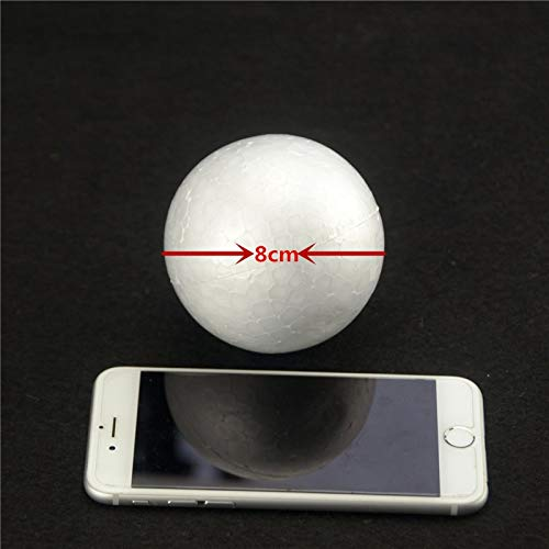 delling Polystyrene Styrofoam Foam Ball White Craft Balls For DIY Christmas Party Decoration Supplies Gifts ()
