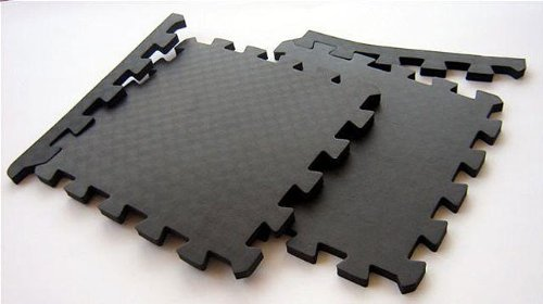 Amazoncom Foam Interlocking Floor Mats Case Of Black - Styrofoam floor mats