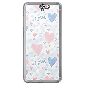 Loud Universe HTC One A9 Love Valentine Printing Files Valentine 167 Printed Transparent Edge Case - Multi Color