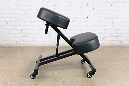 Sleekform Kneeling Chair for Office| Ergonomic Posture Knee Desk Stool for Back Orthopedic Support, Meditation Seat | Adjustable Computer Desk, Meditation Chairs | Orthopedic Cushion, Adjustable Seat