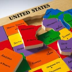 Amazon.com: Ababy US Map Puzzle: Toys & Games