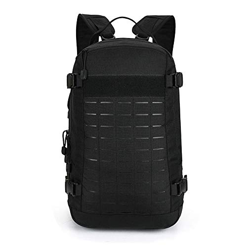 BAIGIO Military Tactical Backpack Molle Hiking Day Packs Out Bag for Traveling, Camping, Trekking (Black)