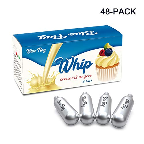 BLUE FLAG Whipped Cream Chargers, 48 Packs