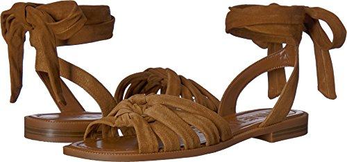 Nine West Women's Xameera Suede Flat Sandal, Brown Suede, 8.5 Medium US - West Brown Leather
