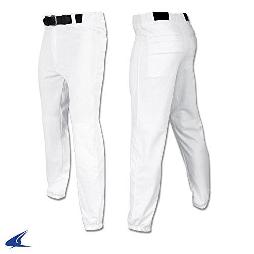 CHAMPRO YOUTH BP3 BELTED BASEBALL UNIFORM PANT PANTS White - Uniform Belted Lightweight