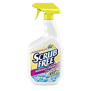 Scrub Free 33200-00105 Bathroom Cleaner with Oxi Clean, Lemon Scent, 32 fl. oz. (Pack of 8)