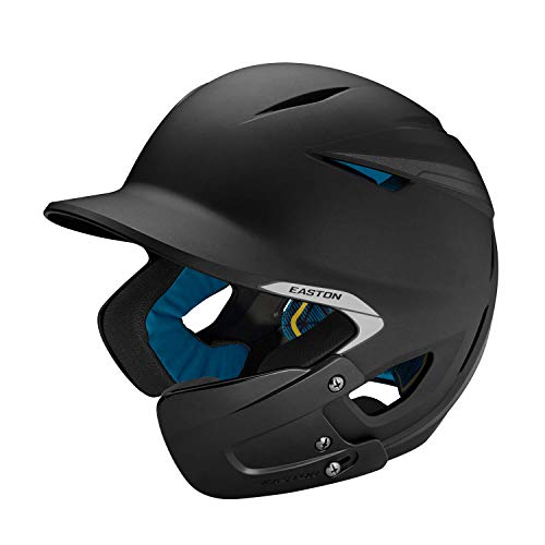 EASTON PRO X Batting Helmet with JAW GUARD | Junior | Right Handed Batter | Matte Black | Baseball Softball | 2019 | Multi-Density Impact Absorption Foam | High Impact Resistant ABS Shell | BioDRI
