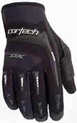 Cortech DX 2 Youth Textile Street Bike Motorcycle Gloves - Black/Black / Size 3-4 ()
