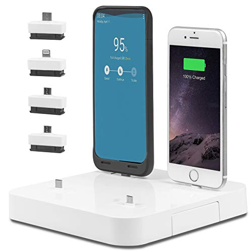Kiwi Box K4 - Charge up to 6 Devices at The Same time with This Universal Smart Charging Station for Smartphones, Tablets, smartwatches and headsets