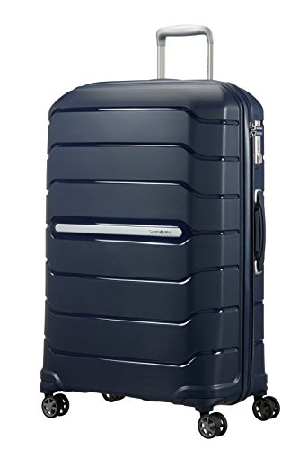 (SAMSONITE Flux - Spinner 75/28 Expandable Hand Luggage, 75 cm, 121 liters, Blue (Navy Blue))