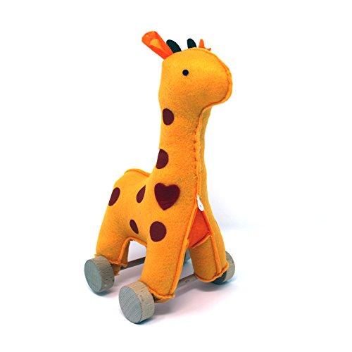 Jack Rabbit Creations  Felt Rolling Toy Giraffe