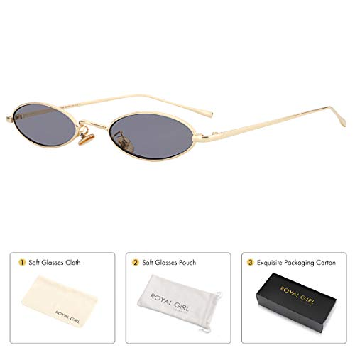 3979a0a13f ROYAL GIRL Vintage Oval Sunglasses Small Metal Frames Designer Gothic  Glasses. by royal girl