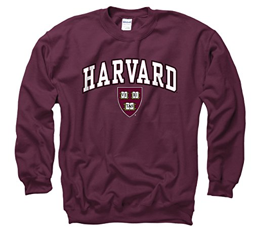 Harvard Crimson Adult Arch & Logo Gameday Crewneck Sweatshirt - Maroon , Small