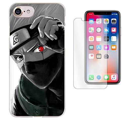 Naruto Kakashi iPhone X/XSMAX/XR/6s/6s+/7/7+/8/8+ Case + Free Glass Screen Protector | PECHWALA | Awesome Design (Naruto Phone Case Note 4)