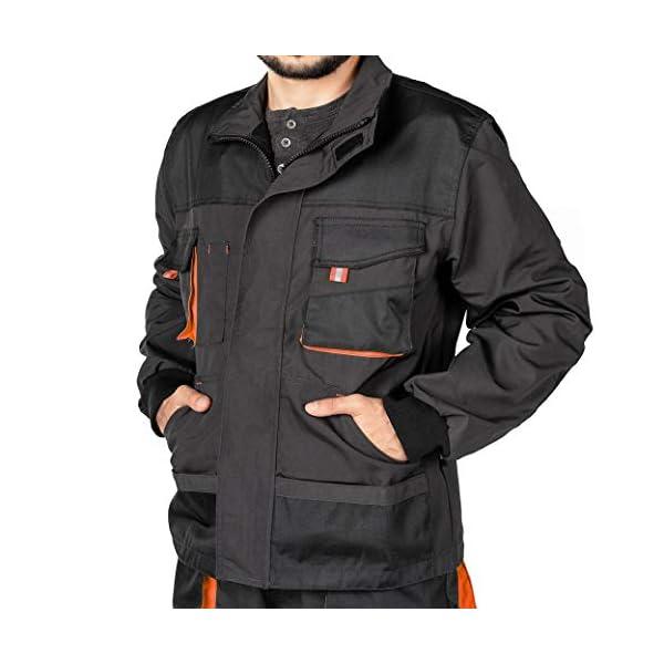 Veste de Travail Homme, Blouson de Travail, Multi Poches, Grande Taille S – XXXL, Manteau de Travail, Bleu/Noir/Rouge…