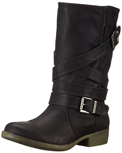 Rocket Dog Women's Truly Westwood Pu Motorcycle Boot, Black, 7 M US
