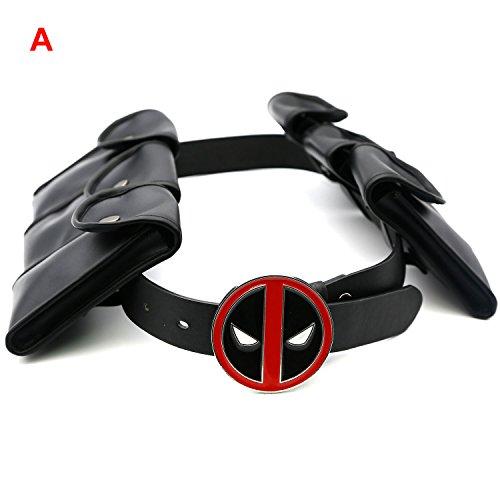 Hotwinds X Cosplay Men DP Belt with Metal Buckle & 6 Pockets Halloween Costume