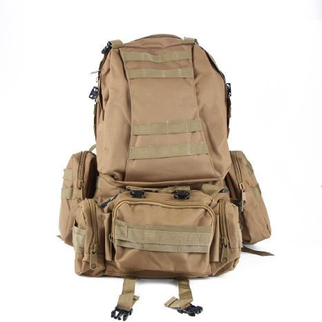 WXBUY Large Outdoor Molle Assault Tactical Backpack Military Rucksack Backpack Bag USA (N)