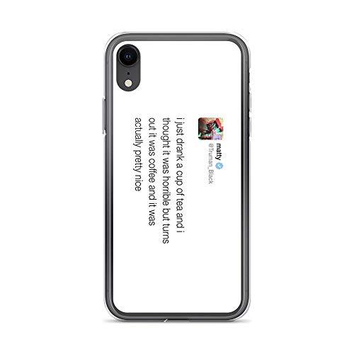 iPhone XR Case Clear Anti-Scratch Matty Healy Tweet, Matty Healy Cover Phone Cases for iPhone XR, Crystal Clear]()