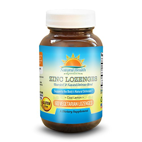 Natural Health Goodies Zinc Lozenges with Vitamin C, Antioxidant Enhanced Immune Support Boosts Your Natural Defenses Defense Lozenges Vitamins