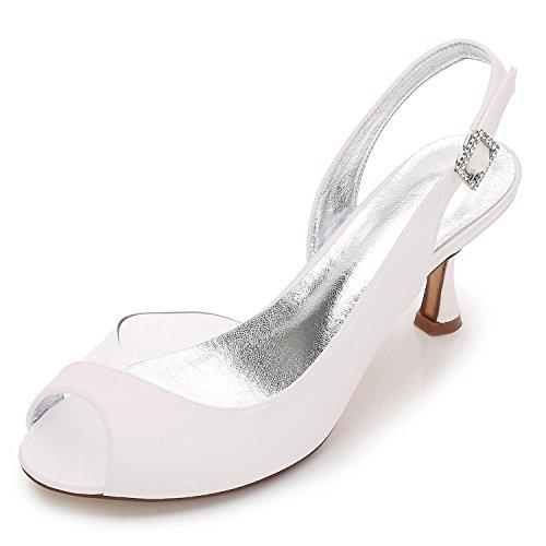 L@YC Zapatos de Boda Para Mujer ML17061-31 Damas Mid Low Party Prom Sandalias Zapatos/Zapatos de Boda Personalizados Ivory