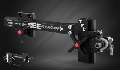 Custom Bow Equipment Tek Target Adjustable Sight, Right Hand, Black