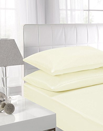 SINGLE FITTED SHEET with Matching  Pillowcases In 22 Colours