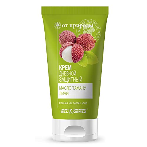 Belkosmex From Nature | Nourishing Protective Day Face Cream for All Skin Types, 50 gr | Tamany Fruits, Extract of Lychees, Vitamins -