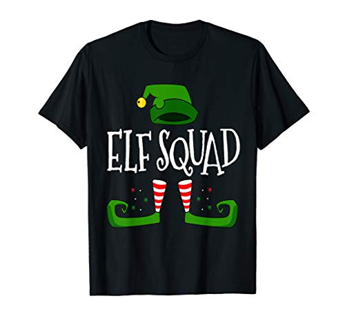 Elf Squad. Christmas Funny Family Group Matching T Shirt -
