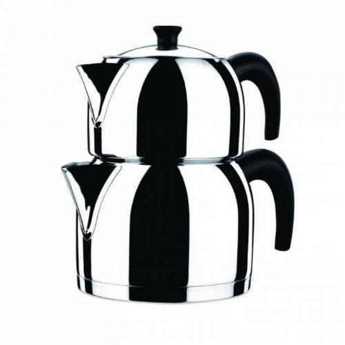 KORKMAZ Orbit 3.1 liter 18/10 Stainless Steel Turkish Teapot by korkmaz