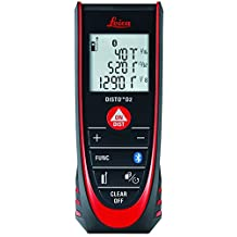 Leica Geosystems 838725 DISTO D2 New Laser Distance Meter with Bluetooth 4.0 and up to 330' Range, Black/Red