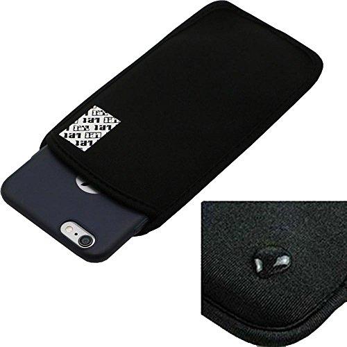 LefRight(TM) Black Elastic Neoprene Aquatics Pouch Case Cover for 5.5 inches iPhone 6s Plus