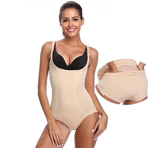 235ea144527 Shapewear Women Tummy Control Bodysuit Underwear Open Bust Slimming Body  Shaper Briefs