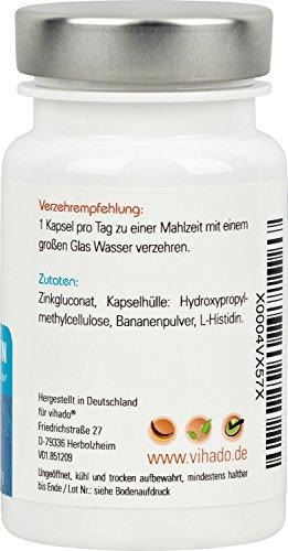 Vihado Zink Tabletten hochdosiert, L-Histidin Komplex..