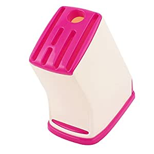 uxcell Plastic Keystone Shape 6 Slots Cook Chopper Cutters Cutter Holder Red