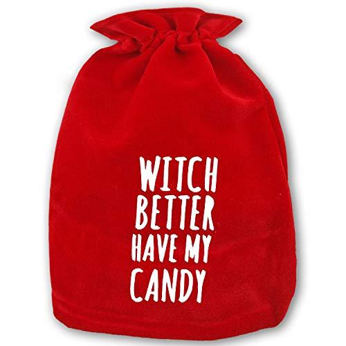 (Large Christmas Sacks Funny Halloween Saying Present Bag with)